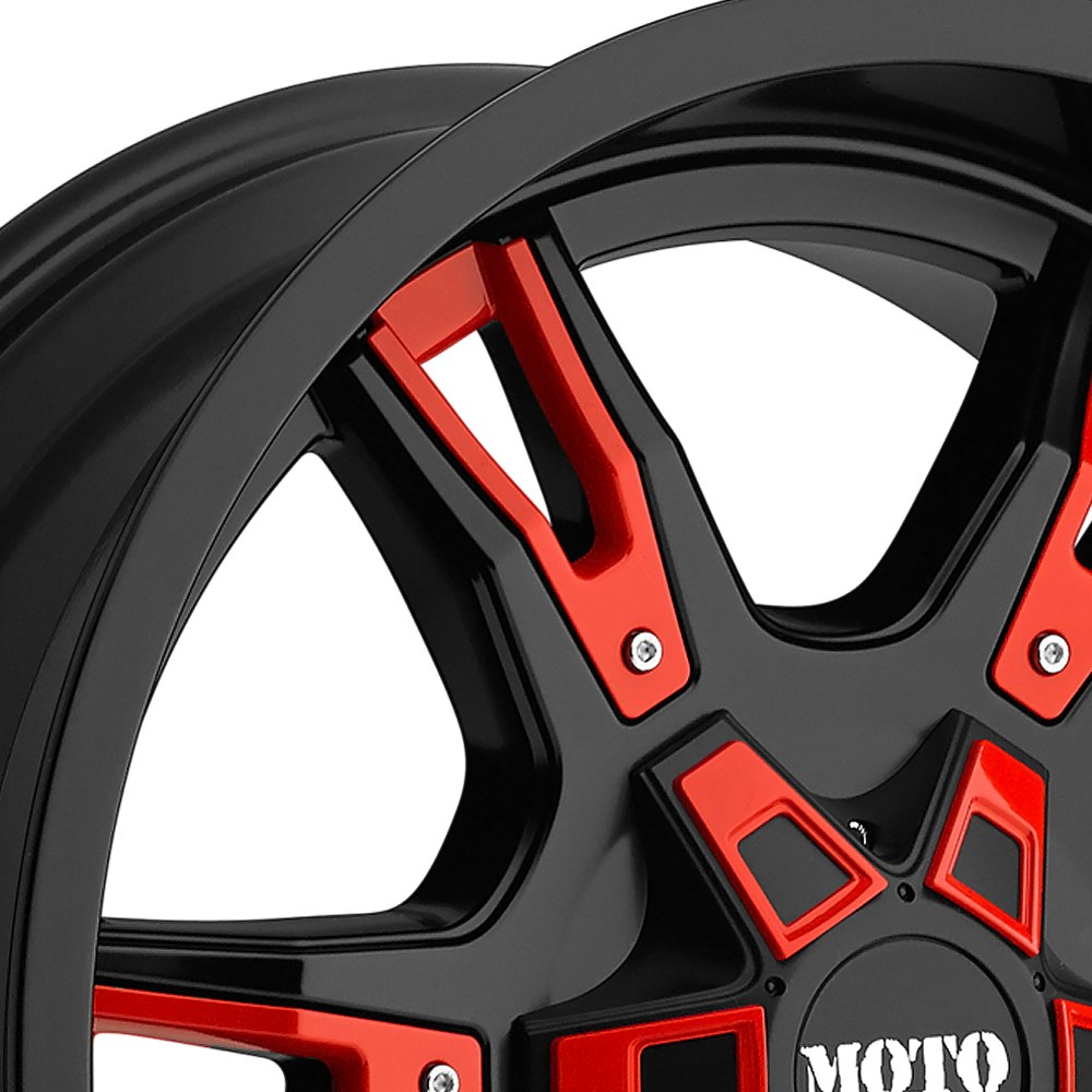 MOTO METAL® MO969 Wheels - Gloss Black with Red and Chrome ...