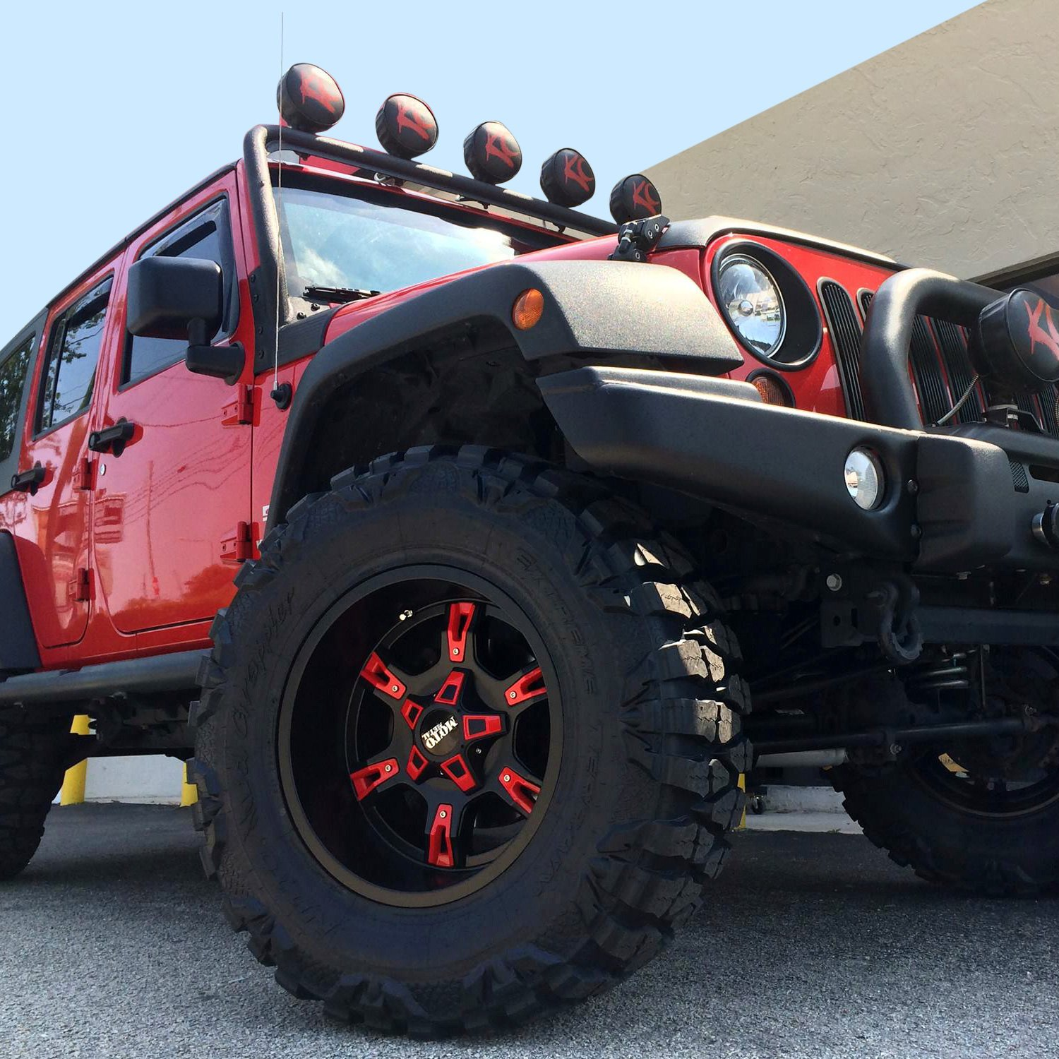 Moto Metal Mo969 Wheels Gloss Black With Red And Chrome Inserts Rims