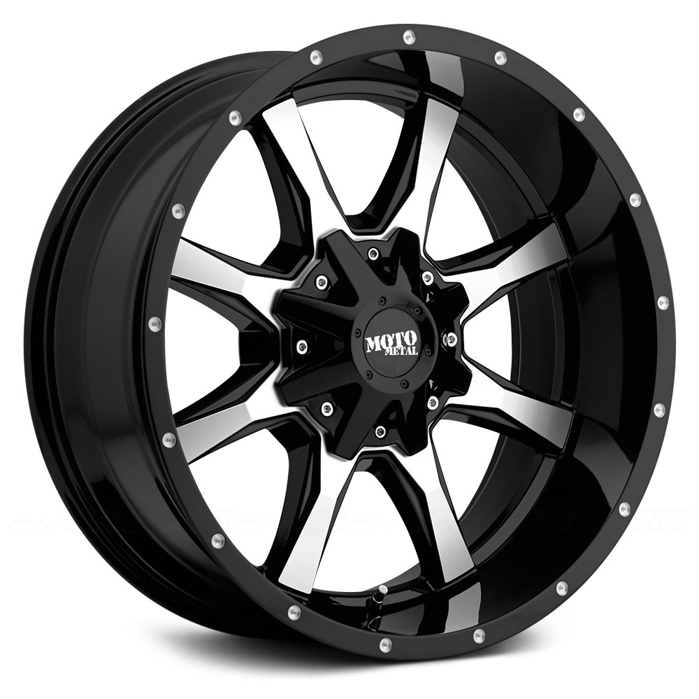 Moto Metal 174 Mo970 Wheels Gloss Black With Milled Face Rims