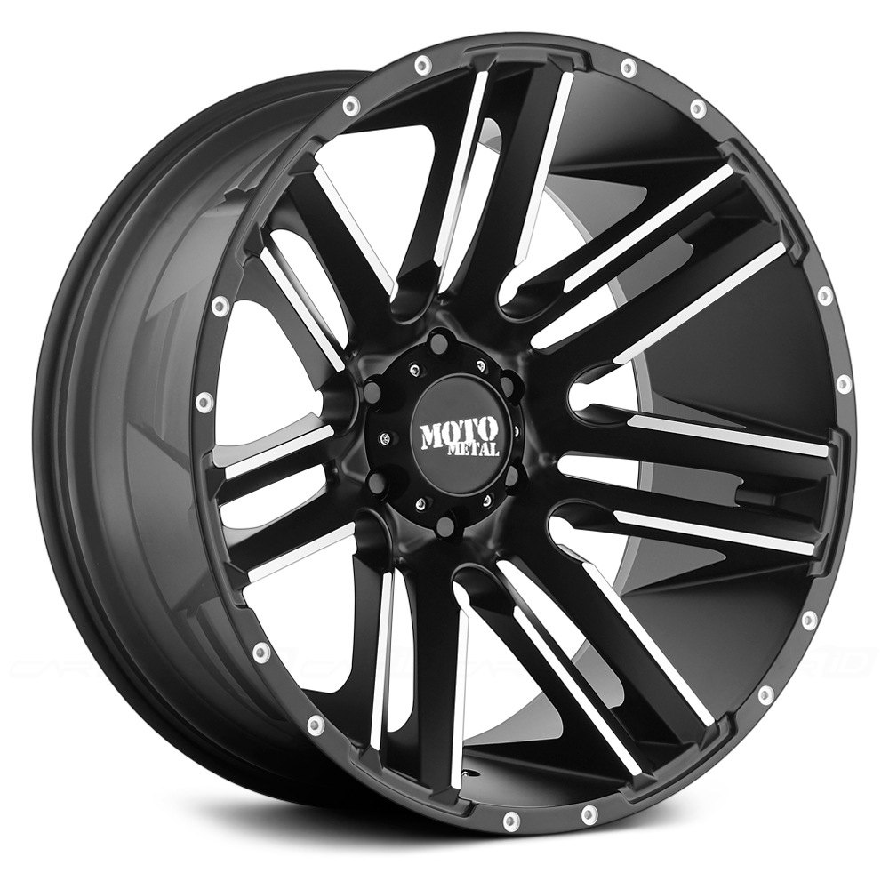 MOTO METAL® MO978 RAZOR Wheels - Satin Black with Machined Spokes ...