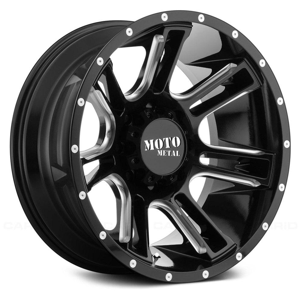 moto metal. moto metal® - mo982 gloss black with milled accents moto metal