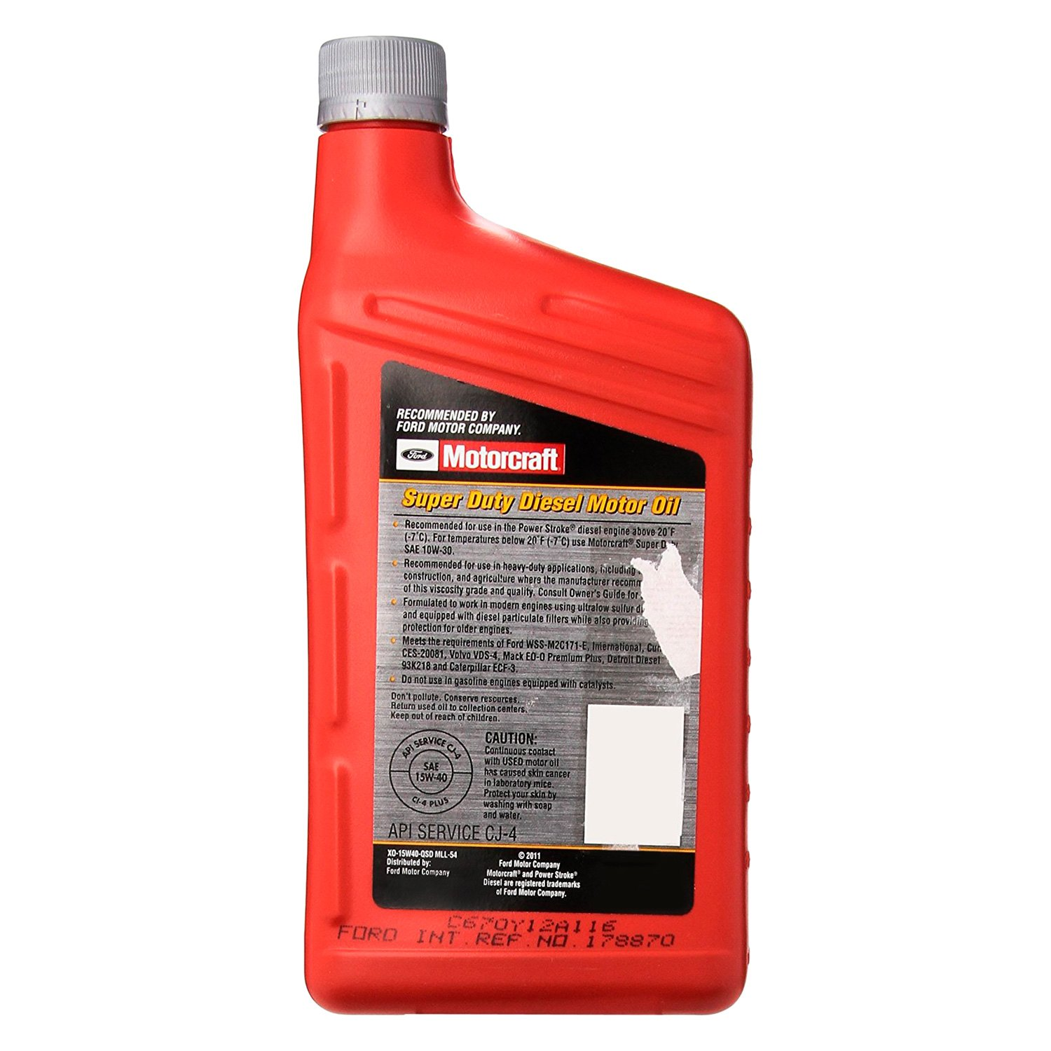 Motorcraft xo5w40qsd universal sae 5w 40 full synthetic for What is synthetic motor oil