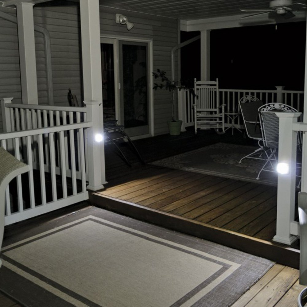 lighting for beams. Beams® - UltraBright 35 Lumens White LED Wireless Motion Sensor Step Lights \u0026 Stair Lighting For Beams