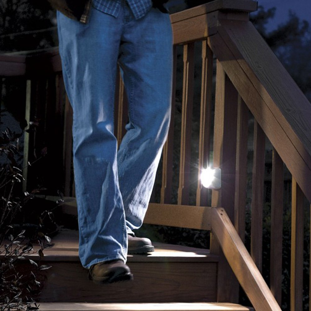 Motion Sensor Stair Lights Mr Beamsar Mb530 Ultrabright 35 Lumens White Led Wireless Motion
