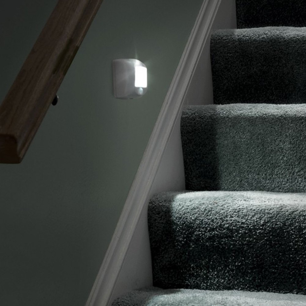 ... Beams® - UltraBright 35 Lumens White LED Wireless Motion Sensor Step Lights u0026 Stair ... : motion activated stair lighting - www.canuckmediamonitor.org
