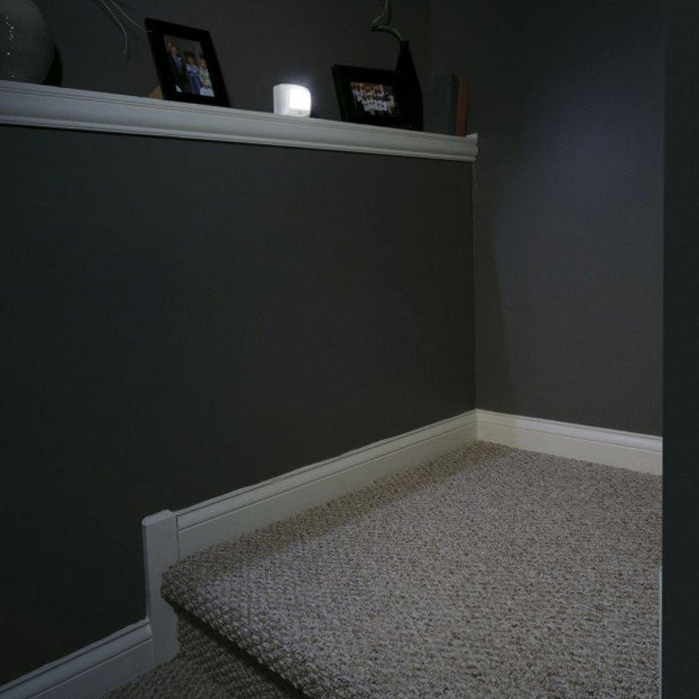 ... Beams®   UltraBright 35 Lumens White LED Wireless Motion Sensor Step  Lights U0026 Stair ...