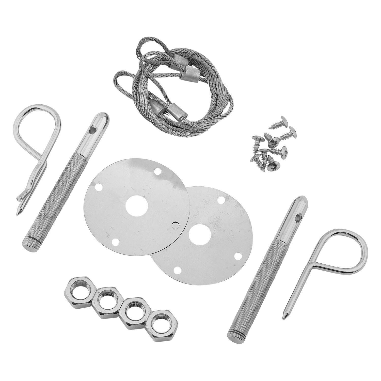 Mr  Gasket® 1616 - Competition Hood Pin Kit with Lanyards