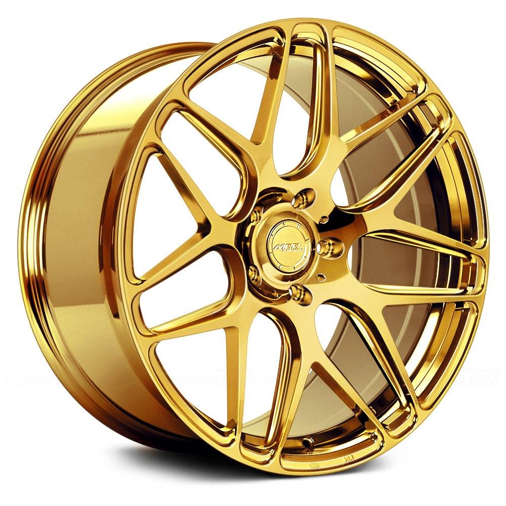 gold rims car