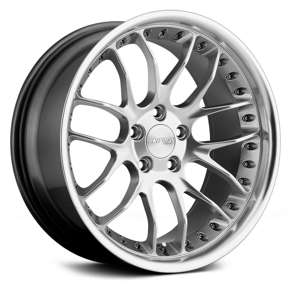 Mrr 174 Gt7 Wheels Hyper Silver With Machined Lip Rims
