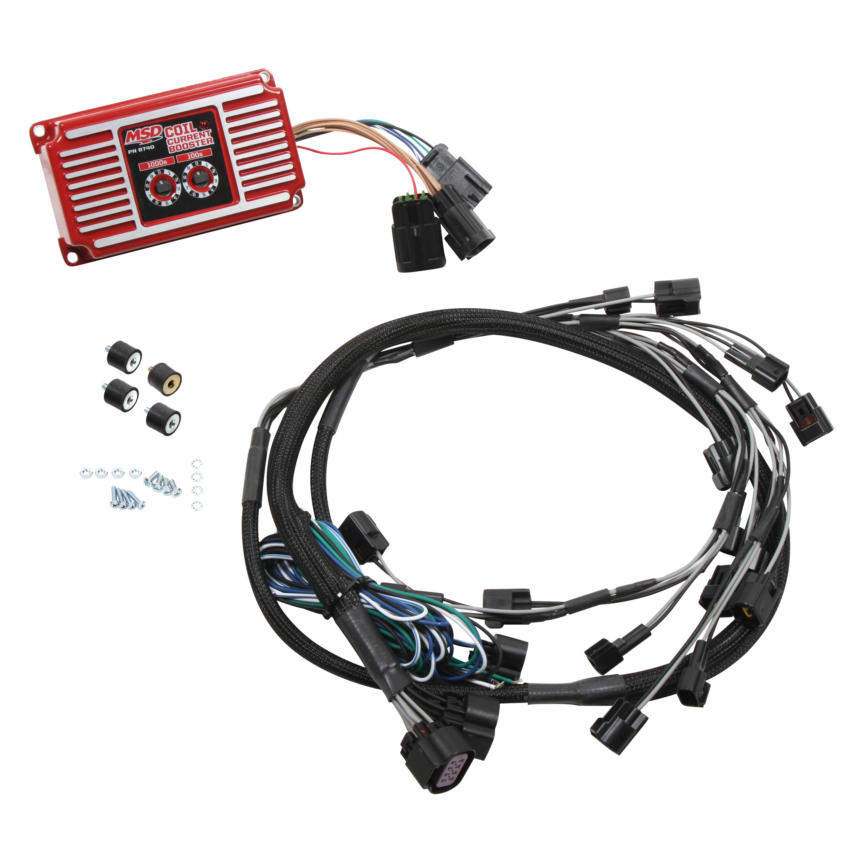 Msd Coil Wire Harness Unlimited Access To Wiring Diagram Information Ignition Systems Diagrams 8740 Current Booster Rh Carid Com Adapter Heat Resistant