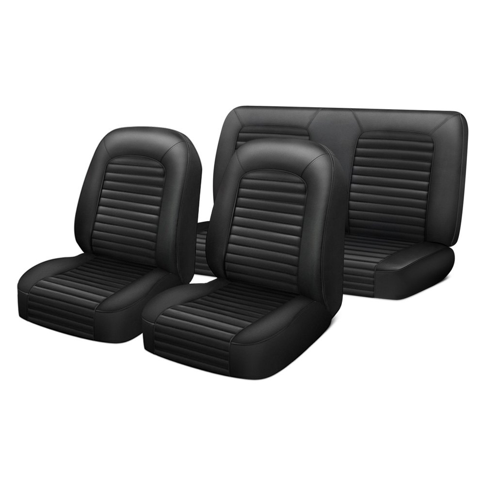 Miraculous Mustang America Ma9071Ba Deluxe Pony 1St 2Nd Row Black Seat Cover Set Cjindustries Chair Design For Home Cjindustriesco