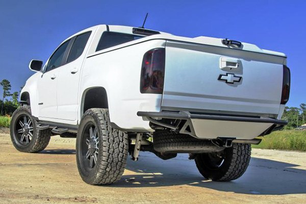 n fab chevy colorado 2015 2018 rbs full width rear pre runner bumper with skid plate. Black Bedroom Furniture Sets. Home Design Ideas