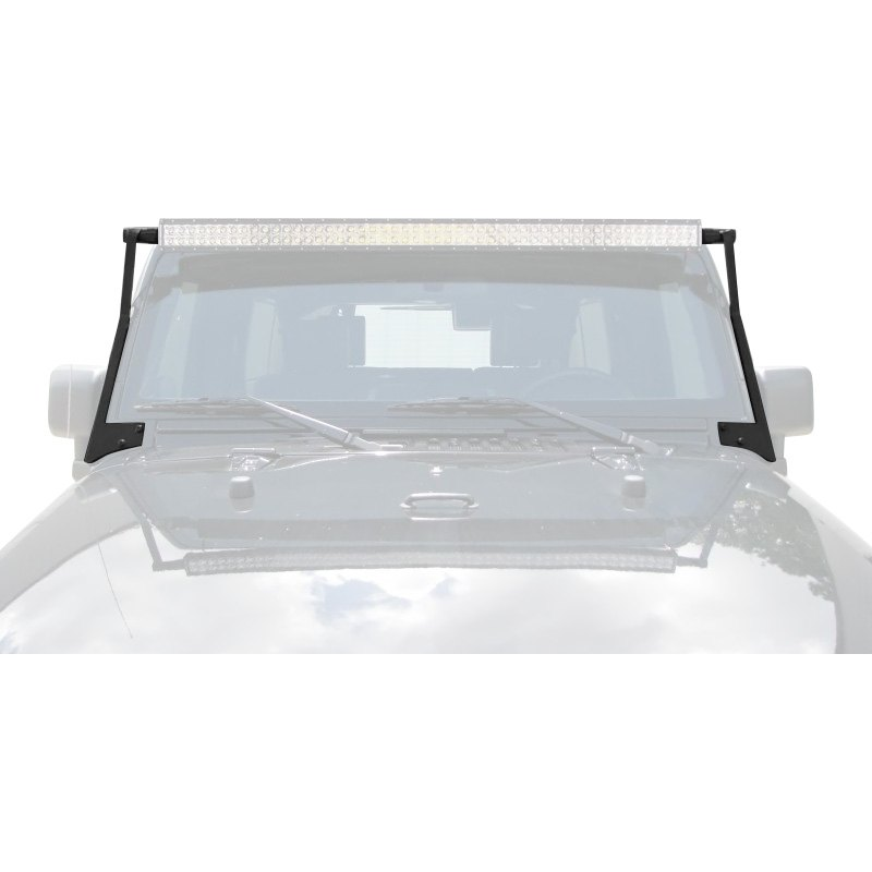 N-FAB® J0750LR - Textured Black Aluminum Windshield Frame Mounts for ...