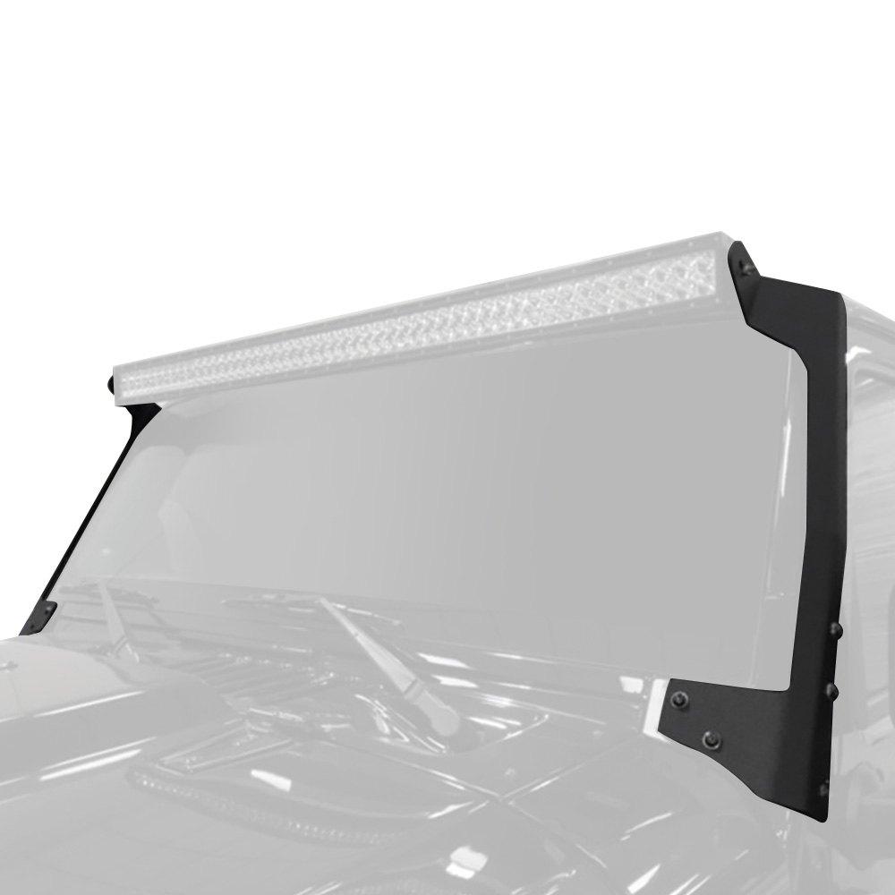 N-Fab® J9750WSM - Textured Black Windshield Frame Mounts for 50-1/2\