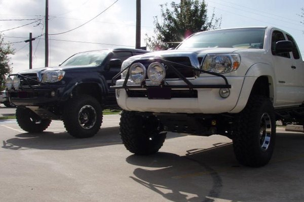 N fab toyota tacoma 2005 2011 pre runner style bumper light bar pre runner style bumper light bar for up to 2x9 round aloadofball Image collections