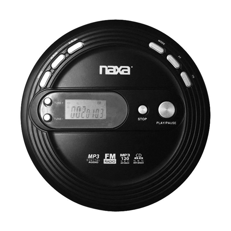 naxa slim personal cd player with fm scan radio. Black Bedroom Furniture Sets. Home Design Ideas