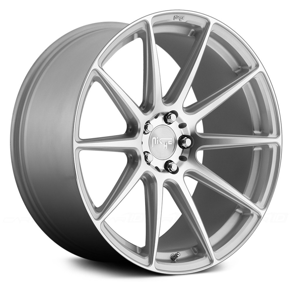 Silver With Machined Face Rims
