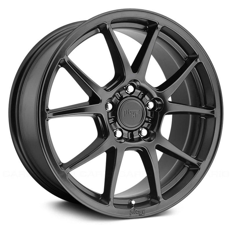 Niche M174 Messina Wheels 17x8 40 5x112 66 5 Black Rims Set Of