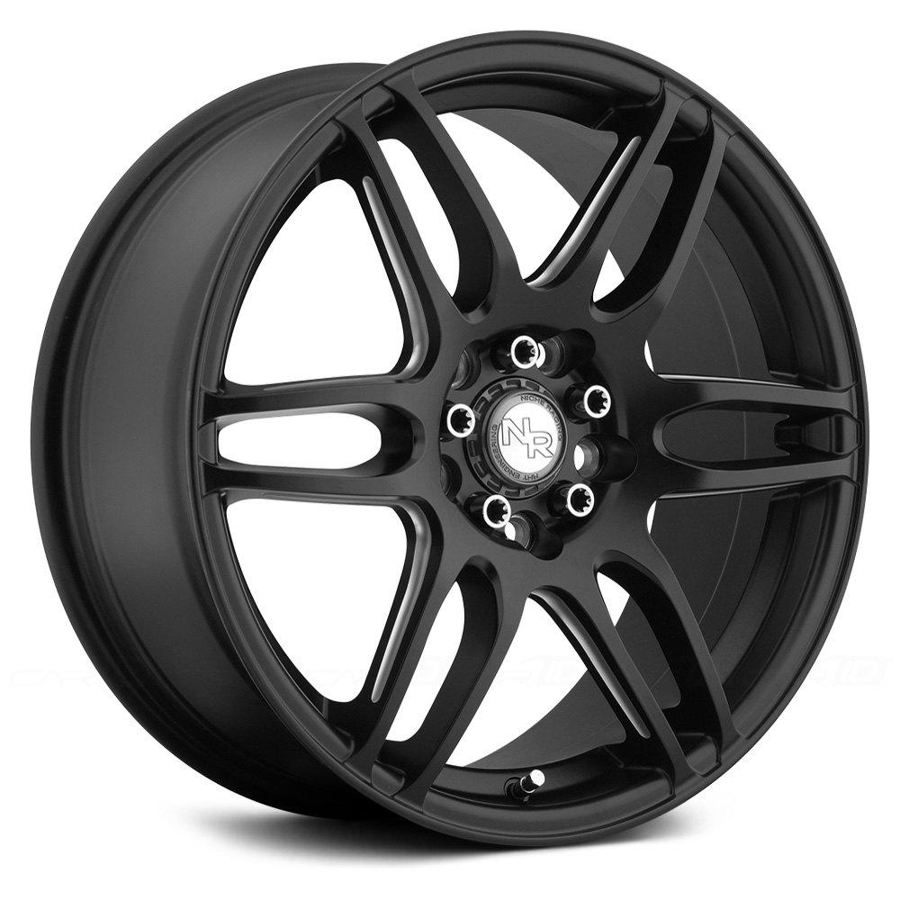 Niche 174 Nr6 Wheels Matte Black With Milled Spokes Rims