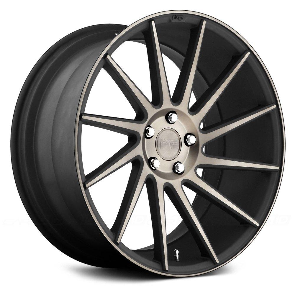 niche surge double dark machined tint face wheels sport m114 series carid rims