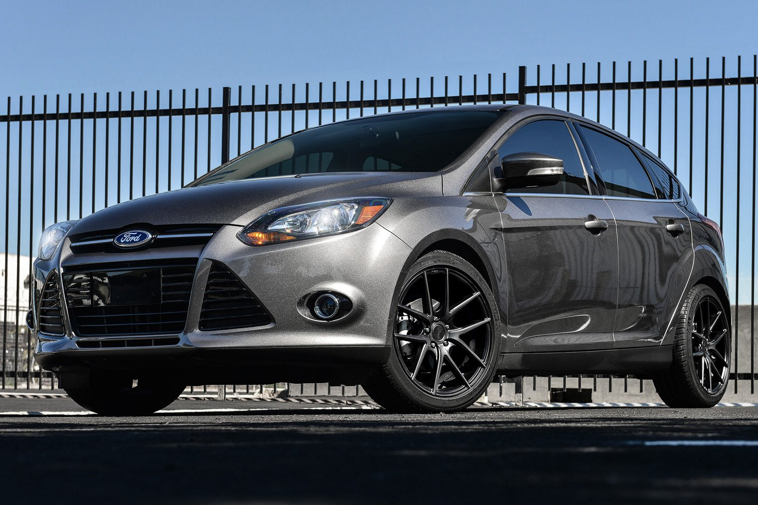 Targa black with machined face and double dark tint on ford focusniche