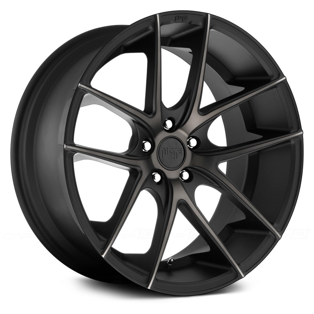 Niche 174 Targa Wheels Black With Machined Face And Double