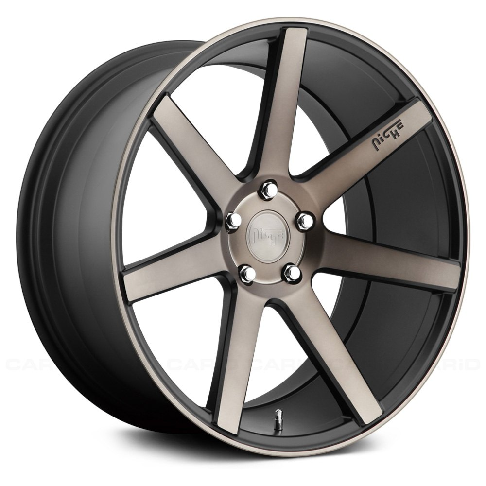 Niche 174 M150 Verona Wheels Black With Machined Face And