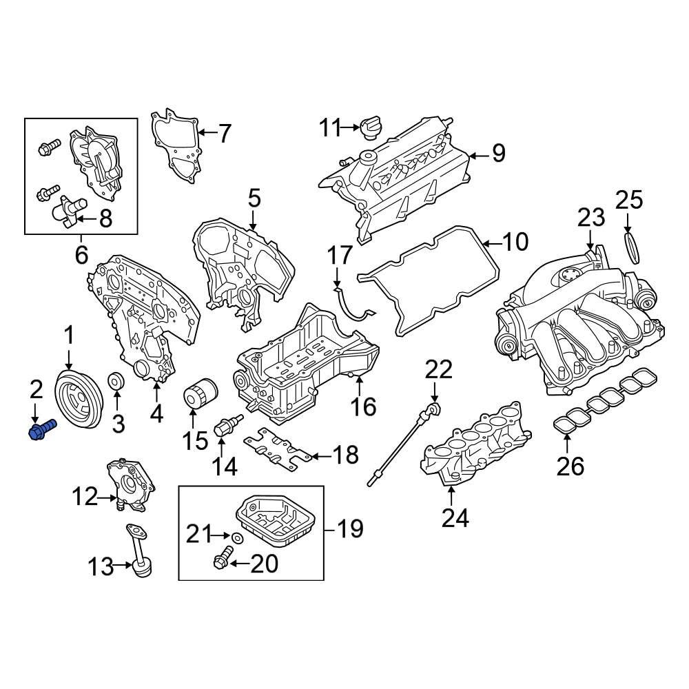 Genuine Nissan Crankshaft Pulley Bolt 12309-31U0B