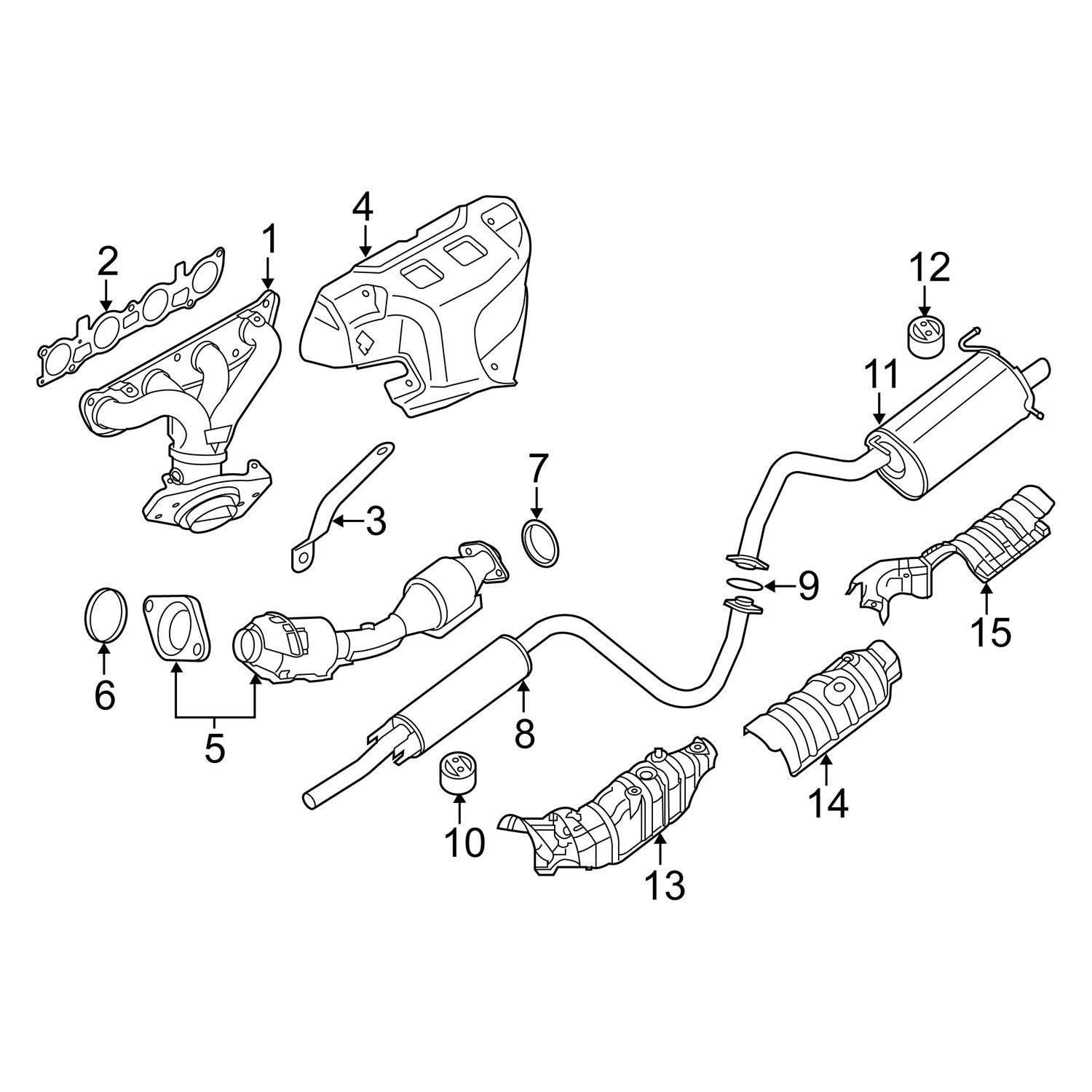 NISSAN OEM Exhaust-Catalytic Converter /& Pipe Seal 20695ED10E