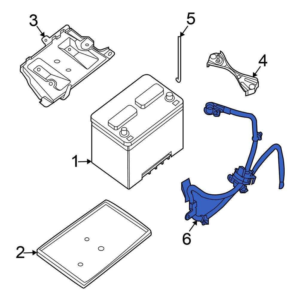 nissan oe 24080ja10a - battery cable  carid.com