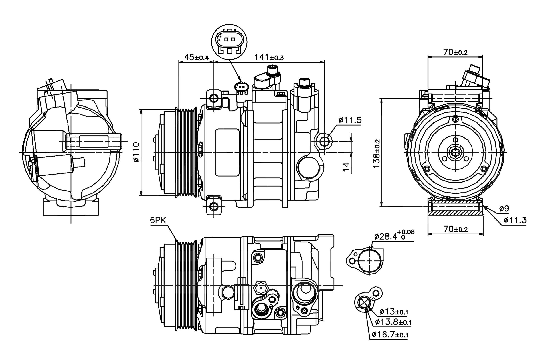 Nissens® 89039 - A/C Compressor