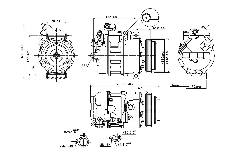 for bmw x3 2004 c compressor