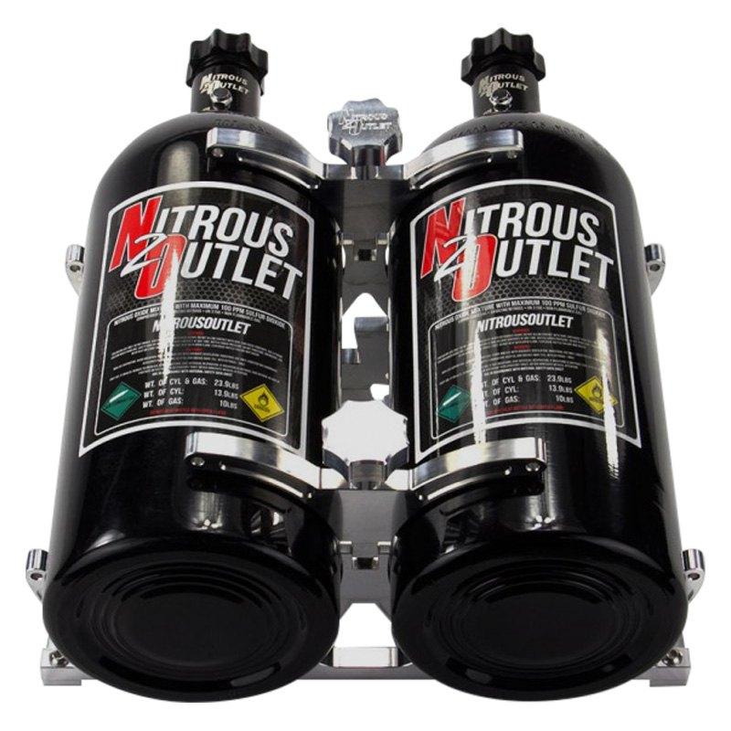 Nitrous Outlet® 00-32012 - Dual Billet Nitrous Bottle Bracket