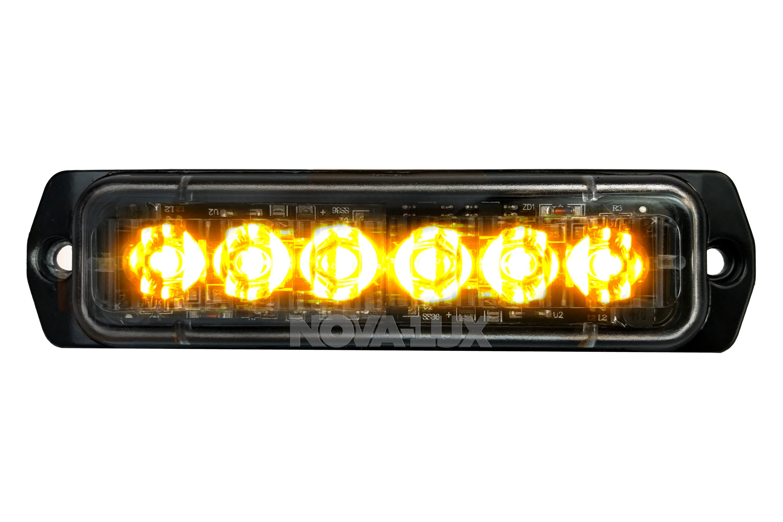 Nova Lux 8400 6 Led Slim Amber Strobe Light