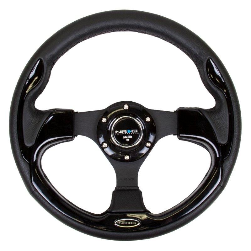NRG Innovations RST-001SL Reinforced Steering Wheel 320mm Sport Steering Wheelwith  Silver Trim