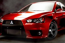 NS SERIES® - M01 Matte Black on Mitsubishi Lancer Evolution