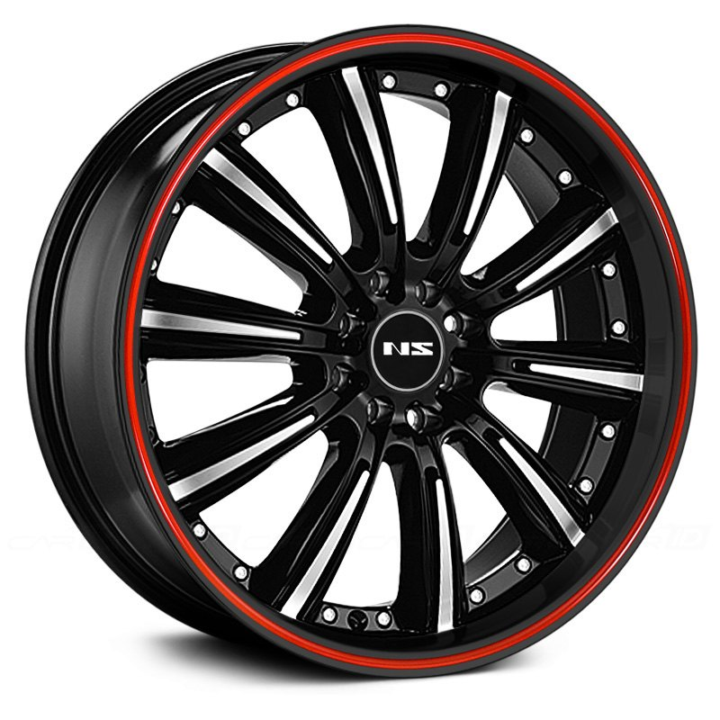 Ns Series 174 Ns9017 Wheels Black With Machined Face And