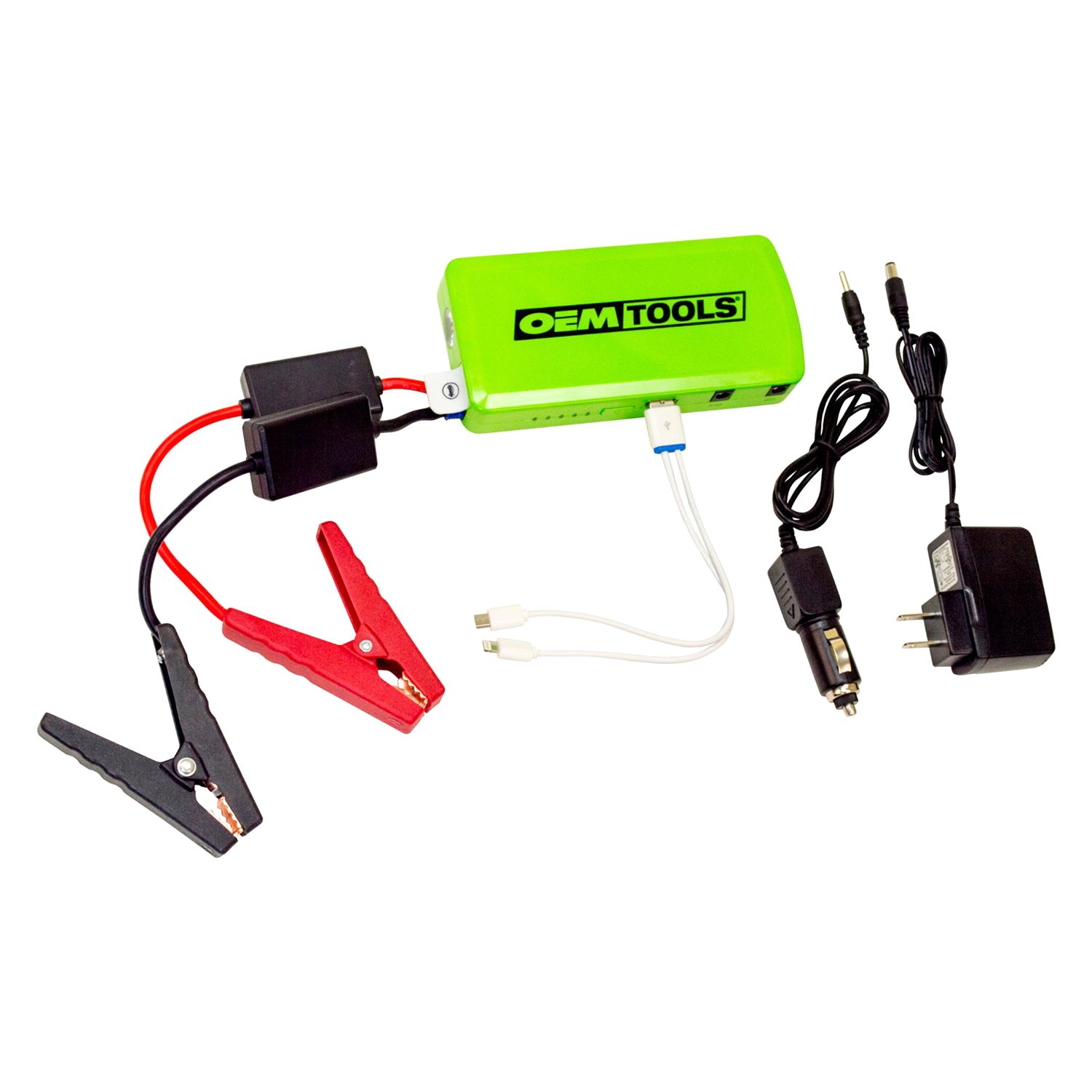 Portable Jumper Cables : Oem tools multi use portable power source with jumper