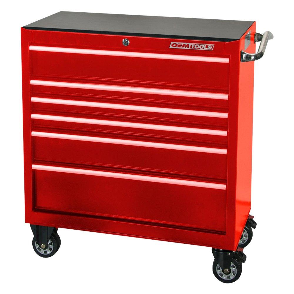 Oem tools 24575 red 36 6 drawer roller cabinet for Sideboard roller