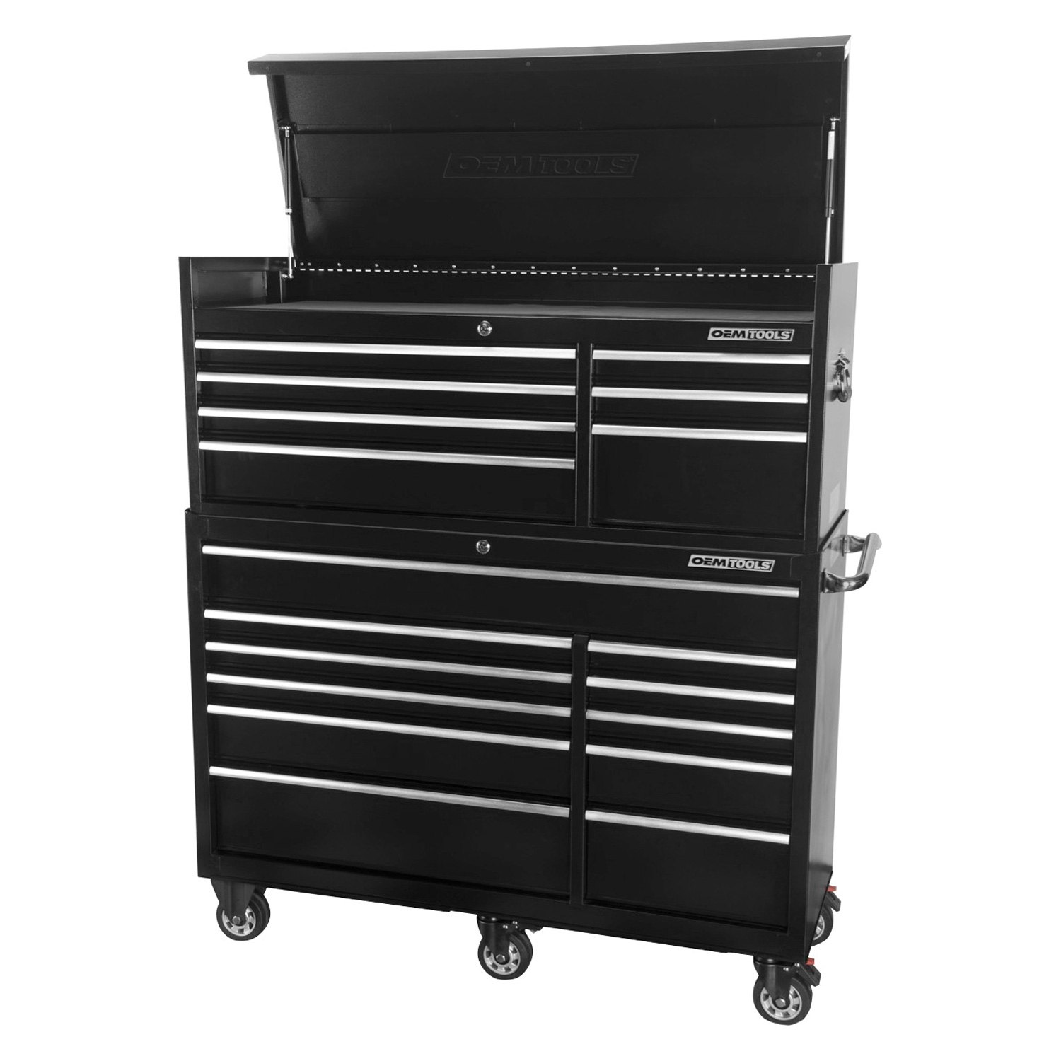 oem tools 24581 56 black chest and cabinet combo. Black Bedroom Furniture Sets. Home Design Ideas