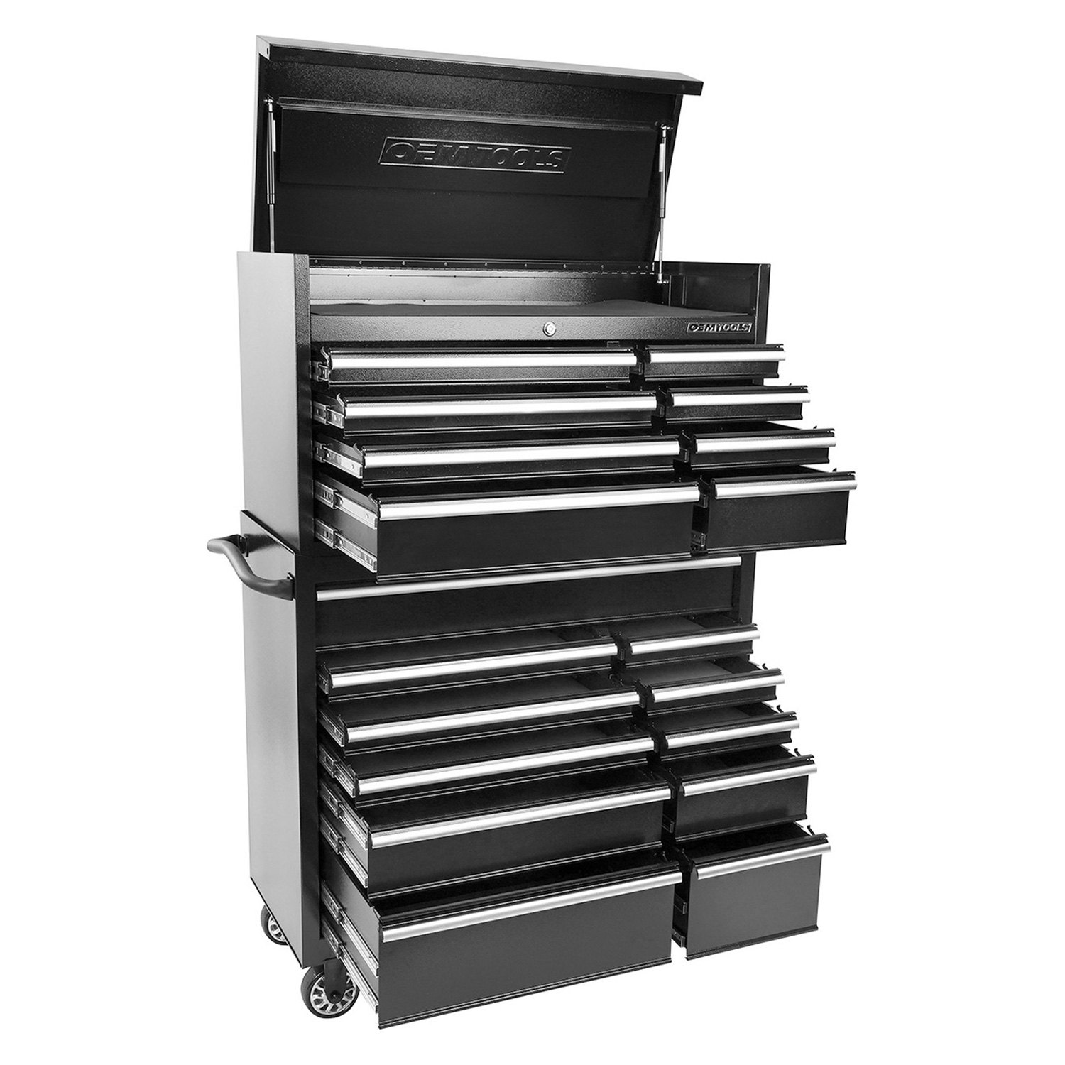 Oem Tools 24584 Black 41 19 Drawer Chest And Cabinet Combo