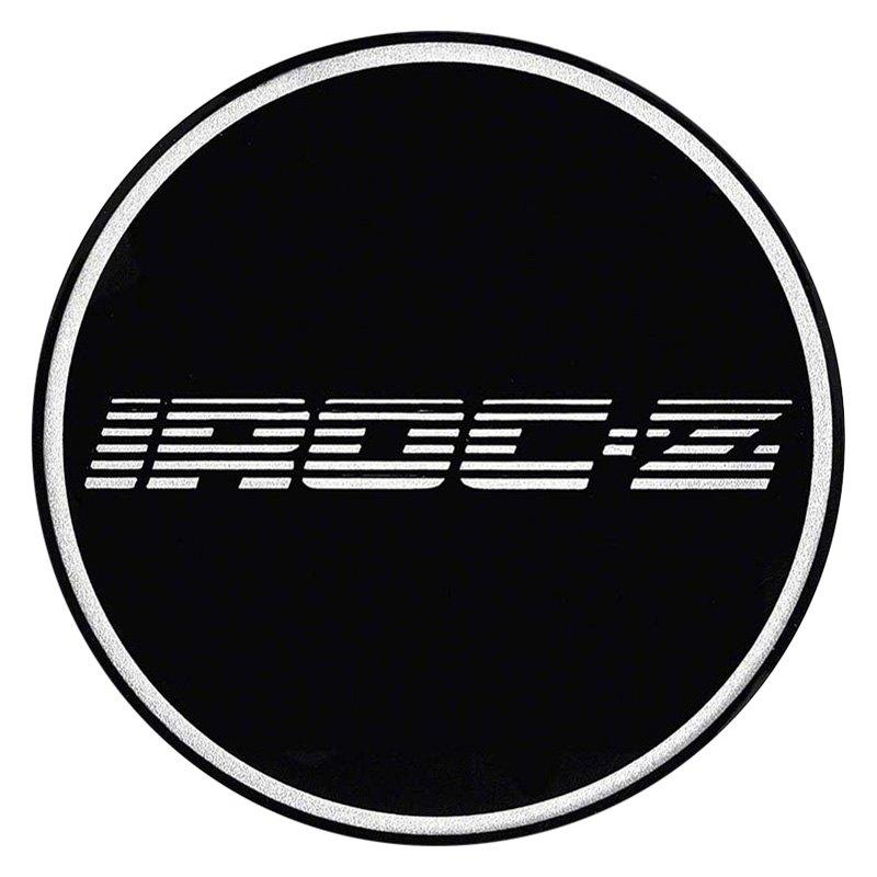 oer174 k151713bk wheel center cap emblem with chrome iroc