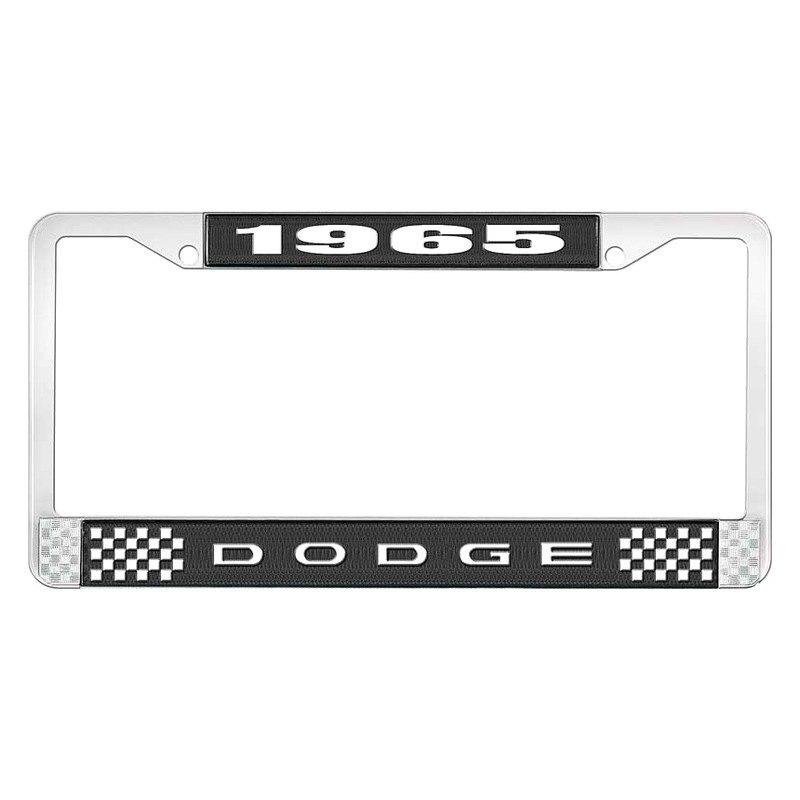 oer license plate frame with 1965 dodge logo - Dodge License Plate Frame