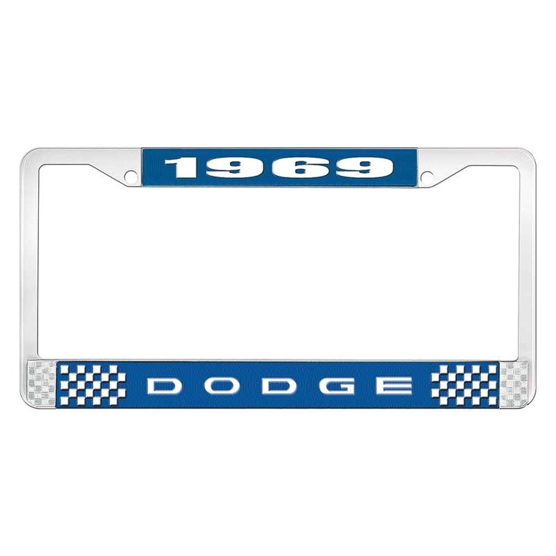 OER® - Dodge Charger 1969 License Plate Frame with White 1969 Dodge Logo