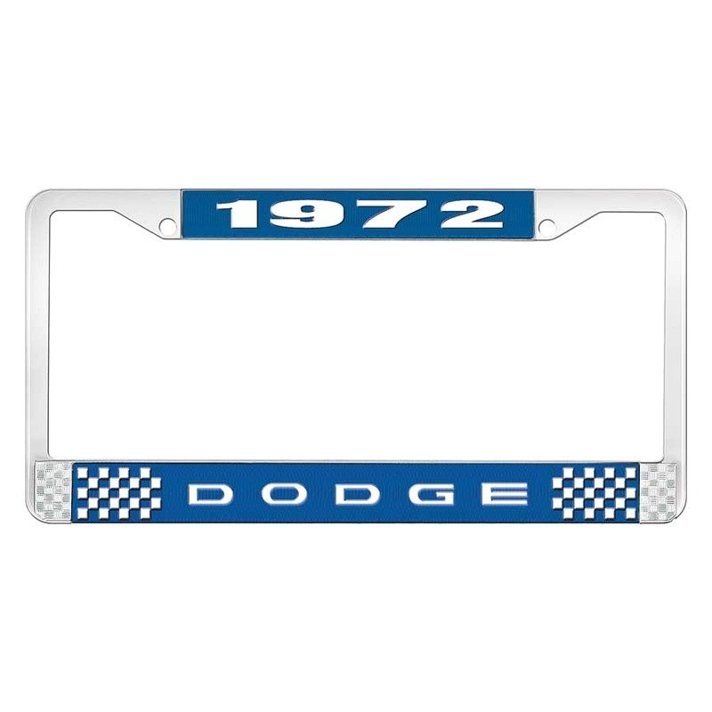 OER® - Dodge Challenger 1972 License Plate Frame with White 1972 ...
