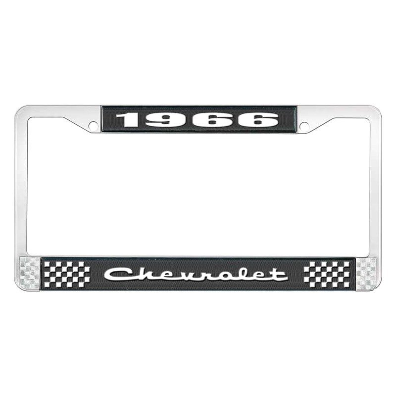 OER® - Chevy Impala 1966 License Plate Frame with White 1966 ...