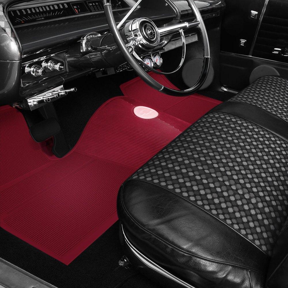 Oer M63002 1st Amp 2nd Row Rubber Red Floor Mat Set Ebay