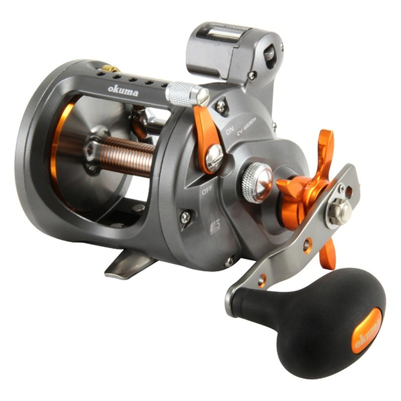 Okuma cw 203d cold water 5 1 1 right hand line counter reel for Handline fishing reel