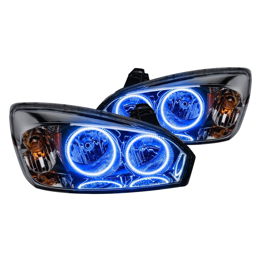 Malibu Lighting Parts >> Oracle Lighting® - Chevy Malibu 2004-2005 Chrome Factory Style Headlights with Color Halo
