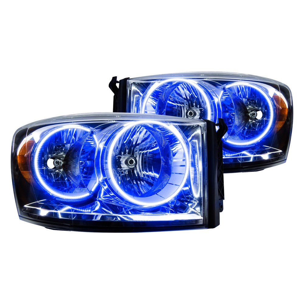 Ram Oracle Headlights >> Oracle Lighting® - Dodge Ram 2007 Chrome Factory Style Headlights with Color Halo
